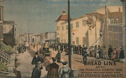 """Bread Line"" - How Thousands of San Franciscans were Fed Daily After the Earthquake Postcard"