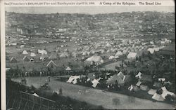 A Camp of Refugees, The Bread Line Postcard