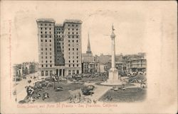 Union Square and Hotel St. Francis Postcard