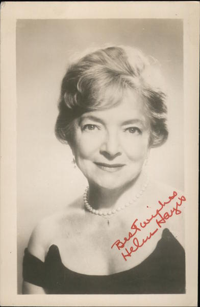 Best Wishes Helen Hayes Actresses