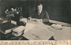 President Roosevelt at Work in his Office, Washington, D.C.
