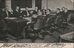 Russo-Japanese Peace Commission in Conference at Portsmouth Navy Yard, U.S.A. August, 1905. Postcard