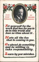 Four Good Thoughts By Theodore Roosevelt