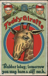 Teddy Giraffe Rubber Today: Tomorrow You May Have a Stiff Neck