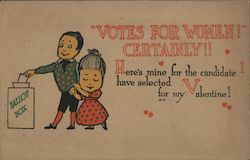 VOTES for WOMEN! CERTAINLY!! Postcard
