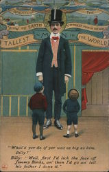 The Greatest Show on Earth Strongest Man in the World Tallest Man in the World Postcard