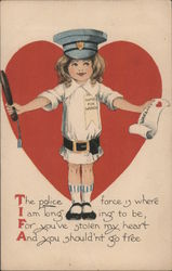 The police force is where I am longing to be Postcard