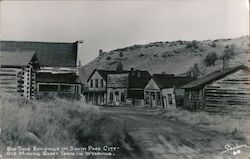 Old Time Buildings in South Pass City-Old Mining Ghost Town in Wyoming.