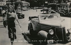 Scene From Peyton Place, Maine St. Camden Maine Postcard