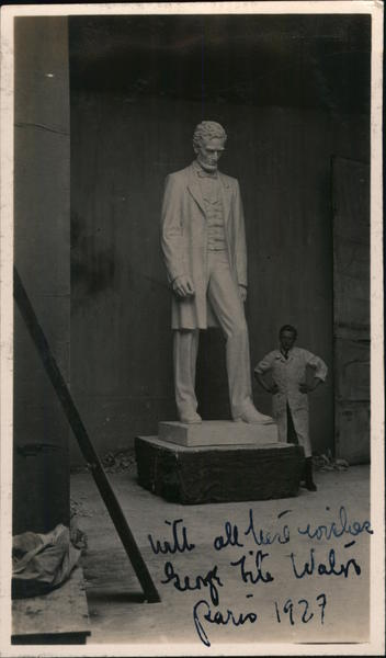 The President - George Fite Waters, 1928 Sculpture & Carving