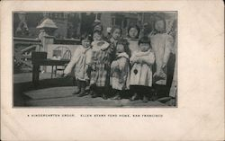 A Kindergarten Group, Ellen Stark Ford Home Chinatown Postcard