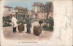 Chinese Servant and Peddler Chinatown Postcard