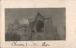 A Church After the Earthquake and Fire Postcard