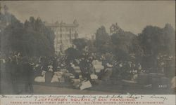 View of Jefferson Square Earthquake Postcard