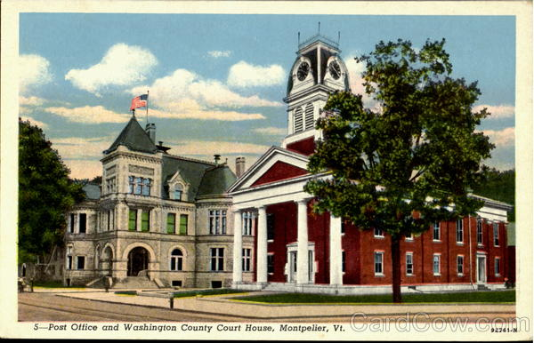 Post Office And Washington County Court House Montpelier Vermont