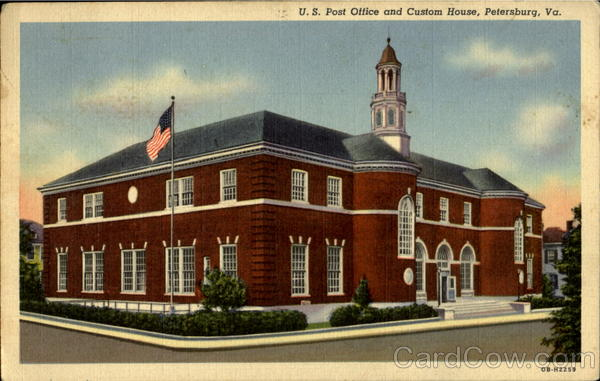 U. S. Post Office And Custom House Petersburg Virginia