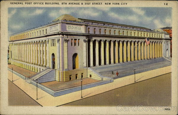 General Post Office Building , 8th Avenue & 31st Street New York City