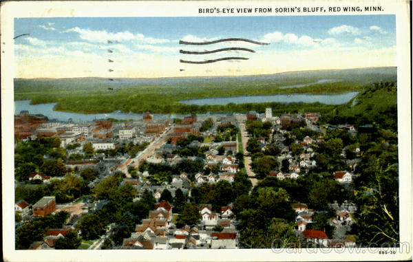 Bird's Eye View From Sorin's Bluff Red Wing Minnesota