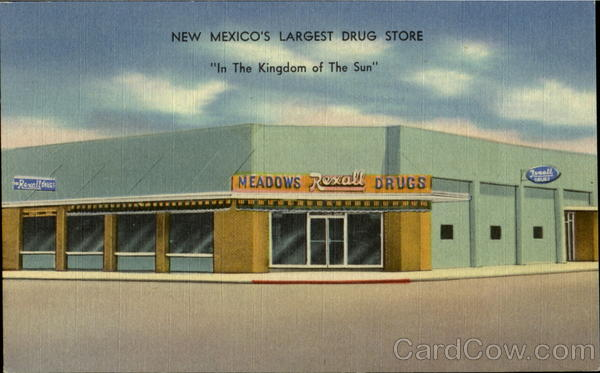 NEW MEXICO Deming - Largest Drug Store Rexall c1940