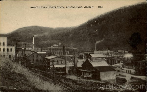Hydro Electric Power System Bellows Falls Vermont