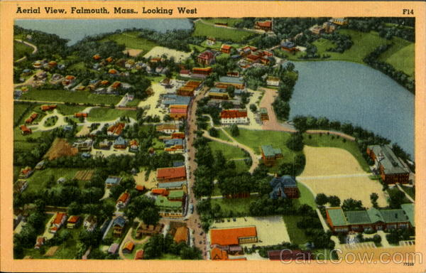 Aerial View Falmouth Massachusetts
