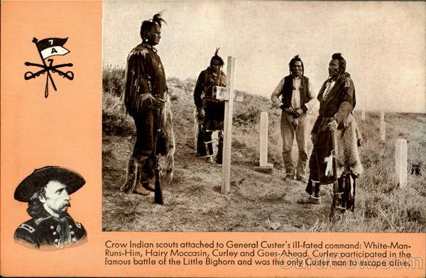Crow Indian scouts Native Americana