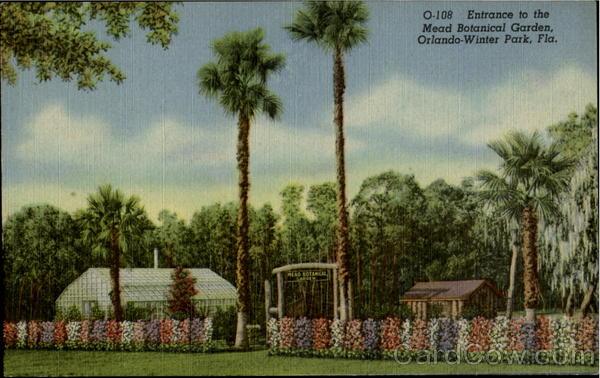 Entrance To The Mead Botanical Garden Orlando Winter Park Fl