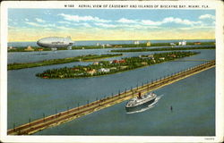 Aerial Vie Of Causeway And Islands Of Biscayne Bay