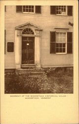 Doorway Of The Woodstock Historical House