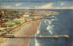 Bird's Eye View Of Beach Front Postcard