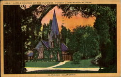 Little Church Of The Flowers, Forest Lawn Memorial Park Postcard