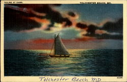 Sailing At Dawn Postcard