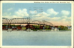 Mississippi River Bridge And Shore Line