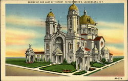 Shrine Of Our Lady Of Victory Father Baker's Postcard