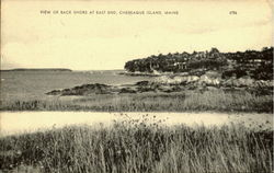 View Of Back Shore At East End Postcard