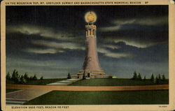 Mt. Greylock Summit And Massachusetts State Memorial Beacon