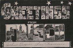 Greetings from Frisco Postcard
