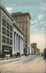 Looking Down California Street from Montgomery Street, Showing Bank of California and Alaska Commercial Building