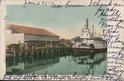 "Steamer ""Gold"" at Wharf"