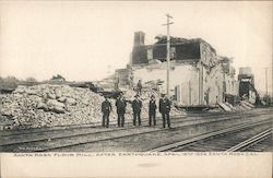 View of Destroyed Santa Rosa Flour Mill after the 1906 Earthquake