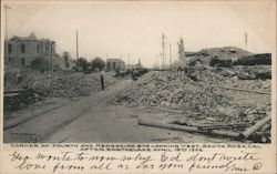 Corner of Fourth and Mendocino Sts. Looking West After Earthquake April 18th 1906