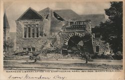 Carnegie Library, After the Earthquake April 18th 1906
