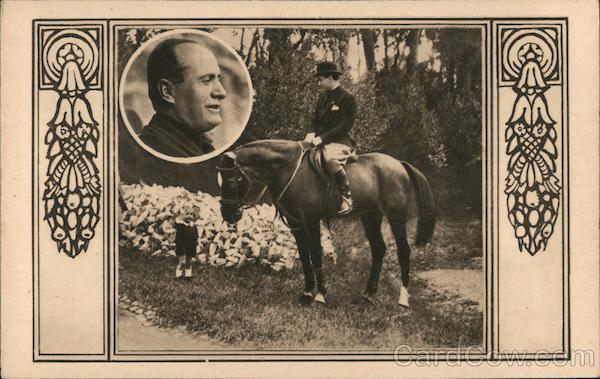 Man on a Horse with Portrait of a Man World War II