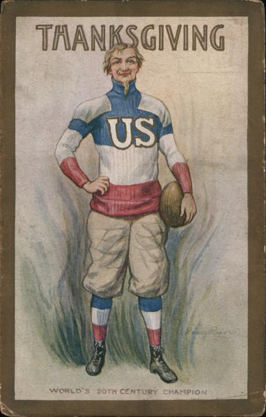Thanksgiving Football Player Percy Reeves Patriotic
