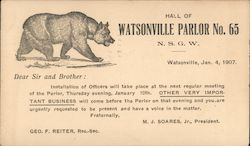 Hall of Watsonville Parlor No. 65. N.S.G.W.
