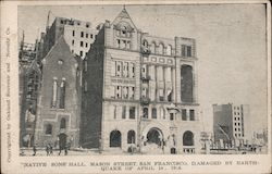 Native Sons' Hall. Mason Street, San Francisco. Damaged by Earthquake of April 18, 1906