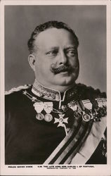 A black and white portrait of the late king Don Carlos I. of Portugal Postcard