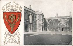 Hertford Founded AD 1874 Postcard