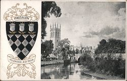 Magdalen Founded AD 1458 Postcard