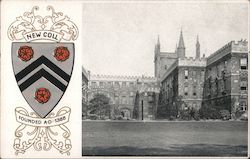 New Coll Founded A D 1386 Postcard